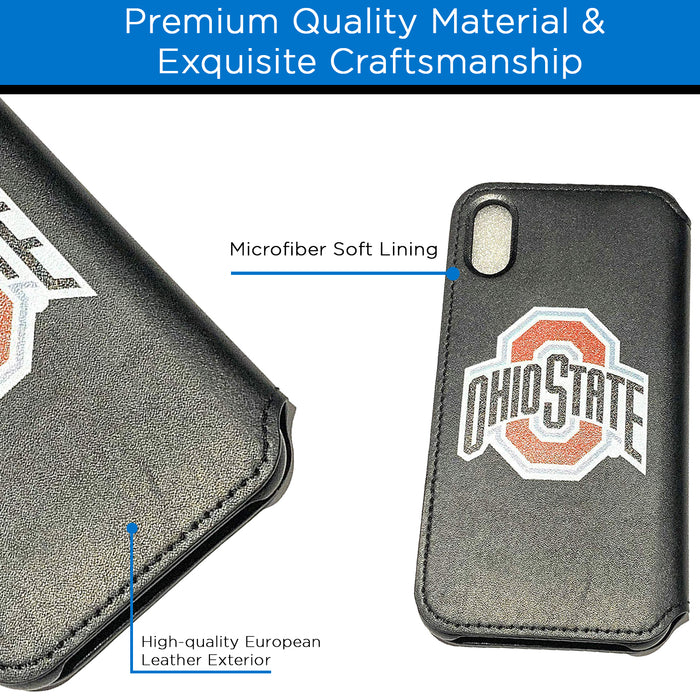 Ohio State Buckeyes iPhone X Xs Wallet Case and Card Holder