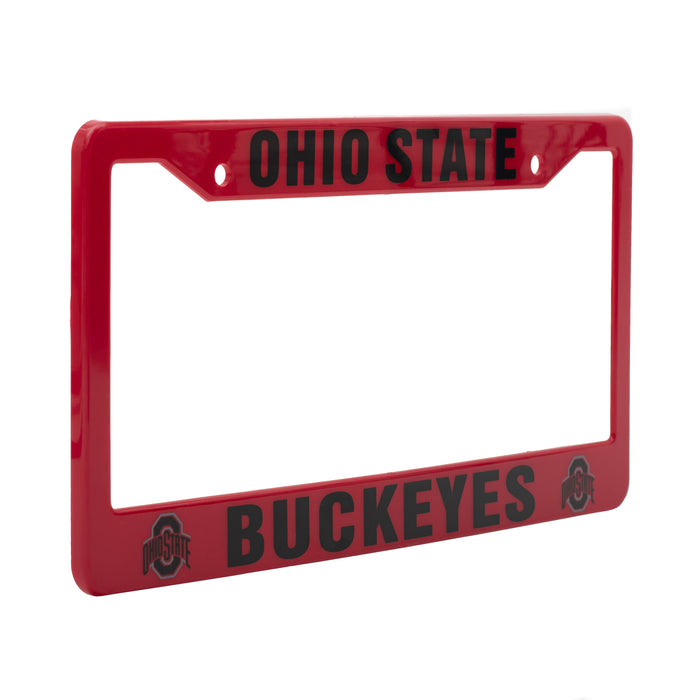Ohio State Buckeyes Red And Black License Plate Frame Cover