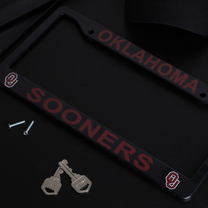 Oklahoma Sooners License Plate Frame Cover