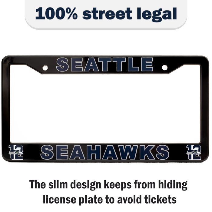Seattle Seahawks License Plate Frame Cover