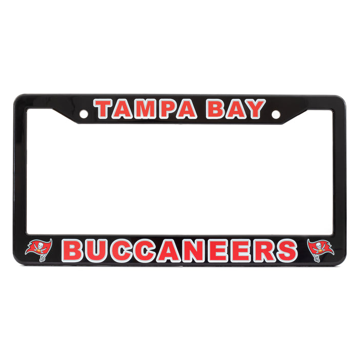 Tampa Bay Buccaneers Black-Red License Plate Frame Cover