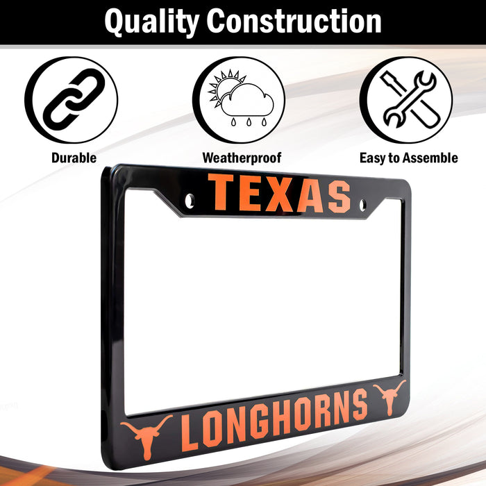 Texas Longhorns License Plate Frame Cover