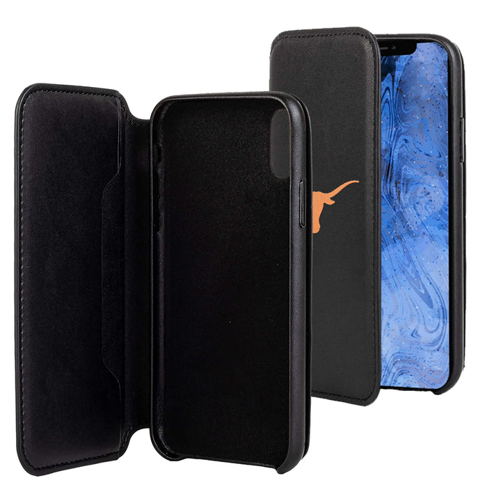 Texas Longhorns iPhone X Xs Wallet Phone Case And Card Holder