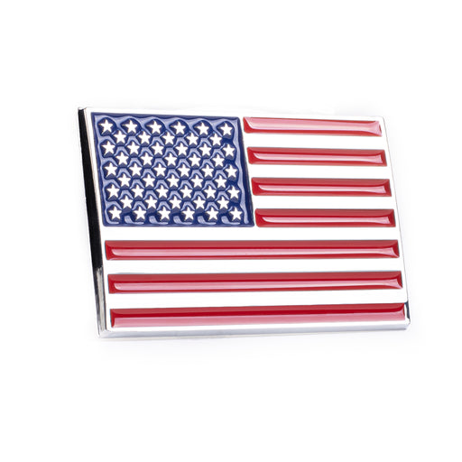 United States American Flag 3D Chrome Auto Emblem