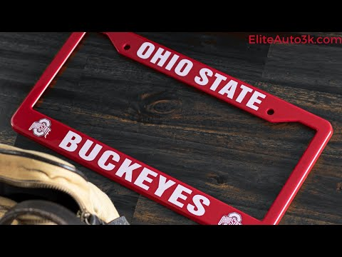 Ohio State Buckeyes Red And White License Plate Frame