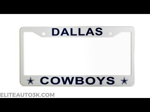 Dallas Cowboys License Plate Frame - Silver - NFL Car Accessory - Slim Design