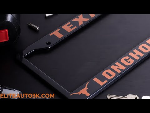 Texas Longhorns License Plate Frame - Black - NCAA Car Accessory - Slim Design