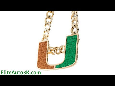 Miami Hurricanes Turnover Chain - Limited Edition 18K Gold Plated Pendant