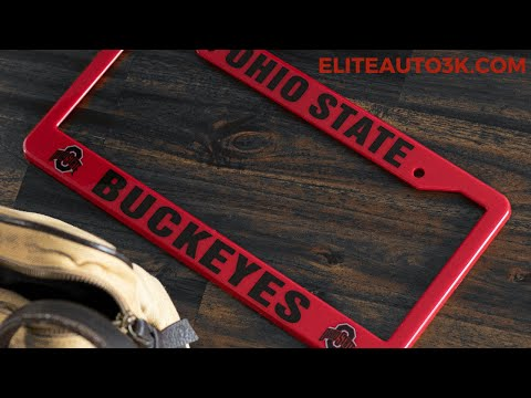 Ohio State Buckeyes Red And Black License Plate Frame