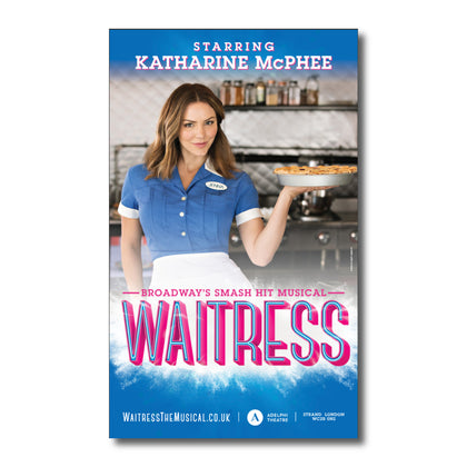 WAITRESS LONDON WINDOWCARD - KATHARINE MCPHEE