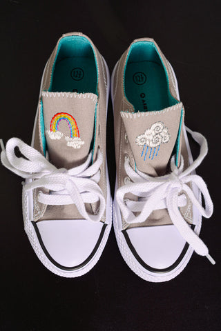stitched shoes