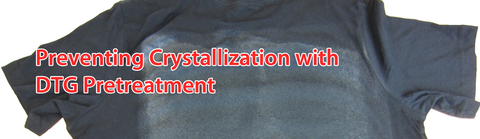 garment printing pretreatment crystalization
