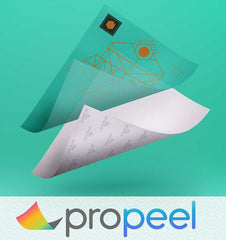 Propeel 2 step transfer paper for white toner transfer printers
