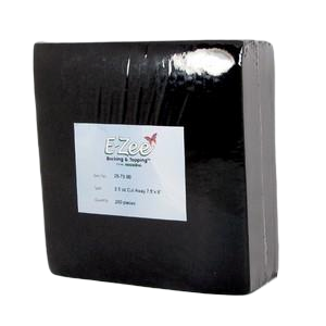"3oz 8"" x 8"" E-Zee Cut Away Super Hefty Black 100pk"