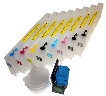 Refillable Cartridge Set For Epson 4880 Garment Printers