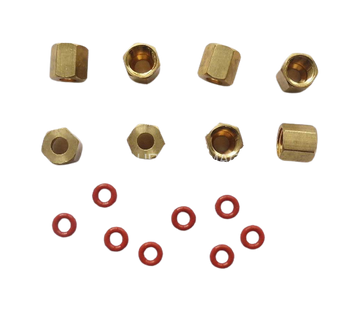 Veloci-Jet XL Brass Fitting and O-ring 8pc Set