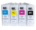 GPI CMYK ink Replacement Cartridge Set for Epson F2000 F2100 600ml