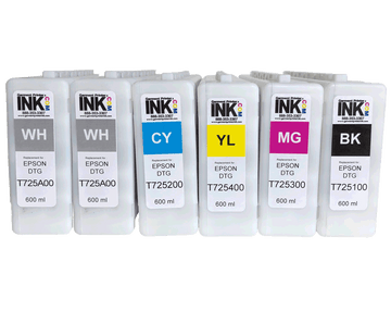GPI Full ink Replacement Cartridge Set for Epson F2000 F2100 600ml