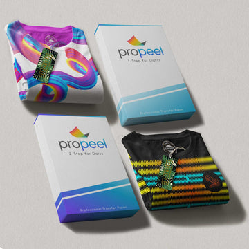 PROpeel 2 Step Transfer Paper for Dark and Light Textiles
