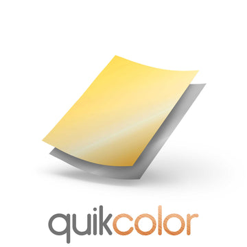Quikcolor Metallic Hard Surface 1-Step Transfer Media for Cardboard, Paper and Wood
