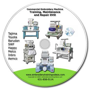 Universal Embroidery Machine Repair DVD