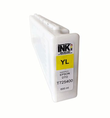 GPI Yellow ink Replacement Cartridge for Epson F2000 F2100 600ml T7254
