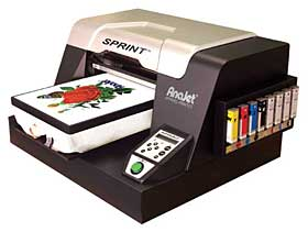 anajet sprint garment printer support