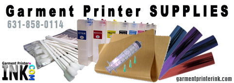 Garment Printing supplies for your AnaJet or DTG Garment Printer