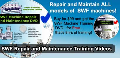 Repair videos for SWF embroidery machines