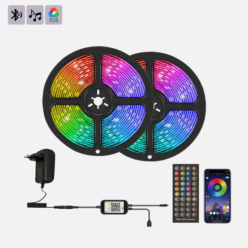 Luces LED RGB 5050 Bluetooth 10m