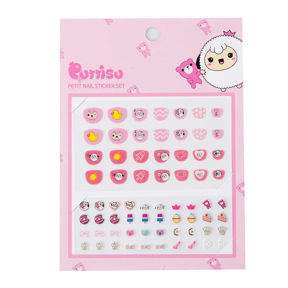 Puttisu Petit Nail Sticker Set 01 Strawberry Cake Yammy