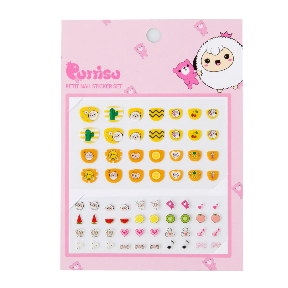 Puttisu Petit Nail Sticker Set 02 Lemon Orange Candy