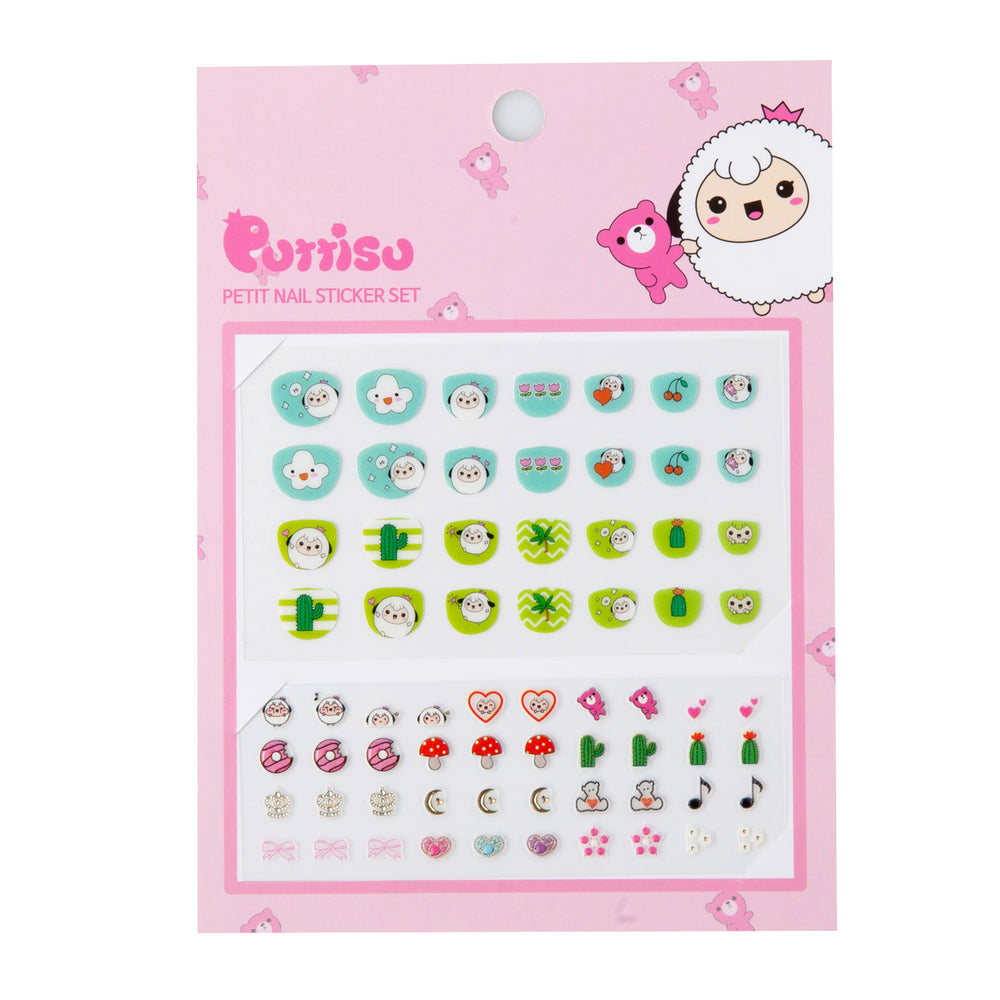Puttisu Petit Nail Sticker Set 03 Mint Limeade