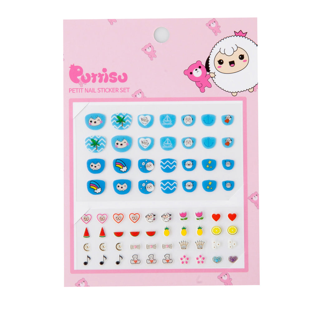 Puttisu Petit Nail Sticker Set 04 Blue Soda