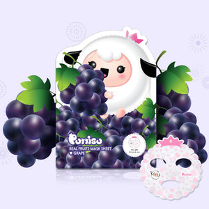 Puttisu Real Fruits Face Mask Sheet #Grape (pack of 5)