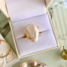 Load image into Gallery viewer, Oceanus Freshwater Pearl Baroque Ring