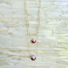 Load image into Gallery viewer, Mama Pink Edison Pearl Bar Necklace