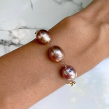 Load image into Gallery viewer, Ariel 3 Semi Baroque Pink Edison Pearl Bracelet