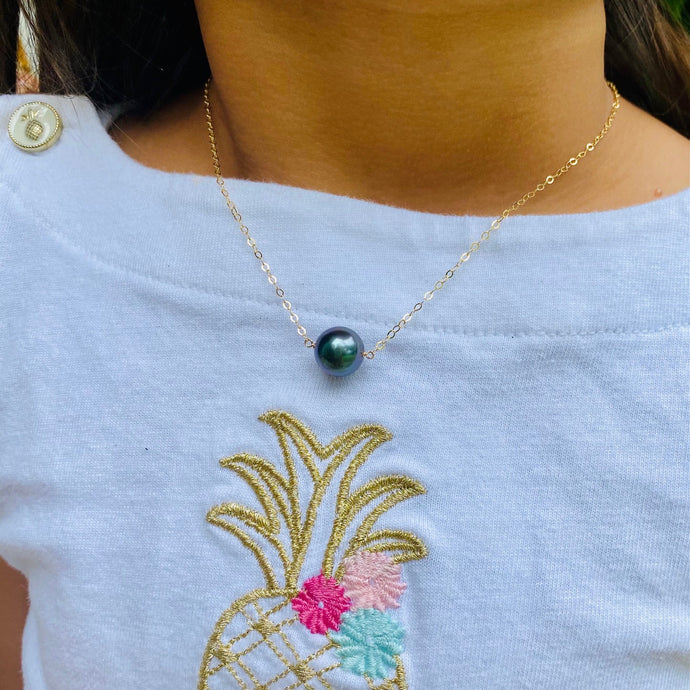 Baby Tahitian Pearl Bar Necklace
