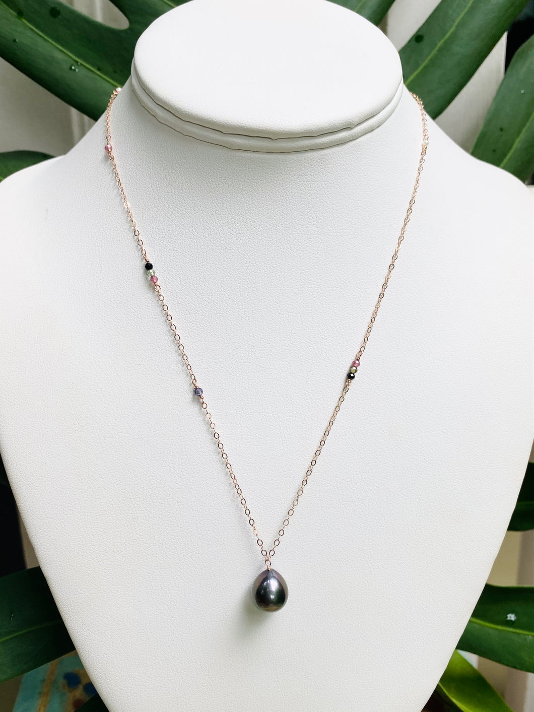 Short Allie Tahitian Pearl Necklace