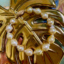 Load image into Gallery viewer, Semi-baroque Golden South Sea Pearl Bracelet