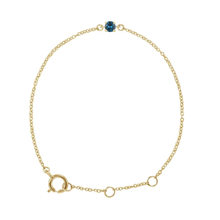 Load image into Gallery viewer, Baby Birthstone Bracelet 14kt Gold