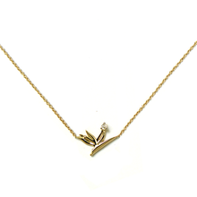 Load image into Gallery viewer, Diamond Bird of Paradise Necklace
