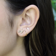 Load image into Gallery viewer, Diamond Bird of Paradise Stud Earring