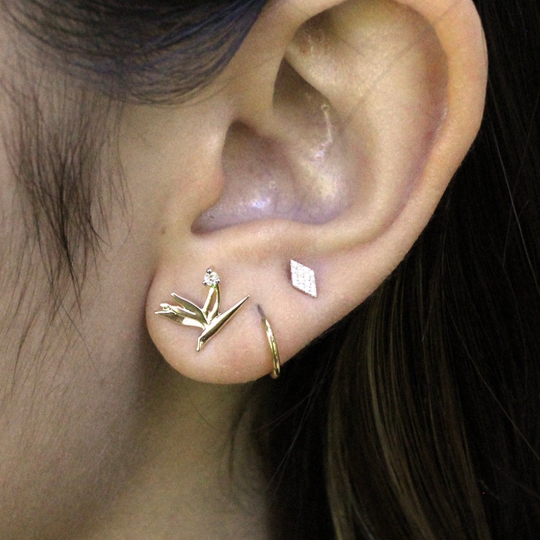 Hoku Diamond Stud Earring