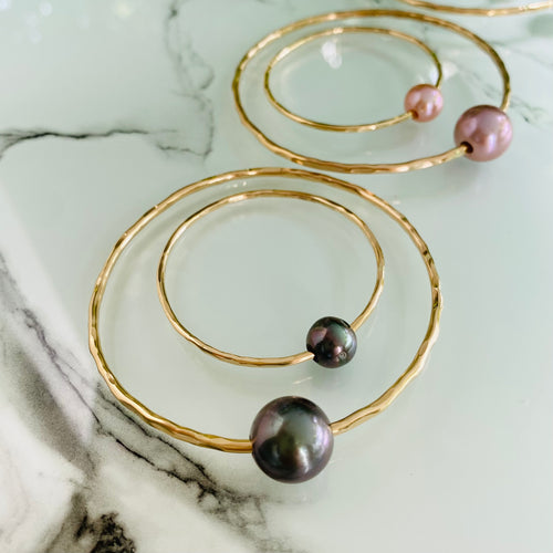 Mama & Me Tahitian Pearl Bangle Set