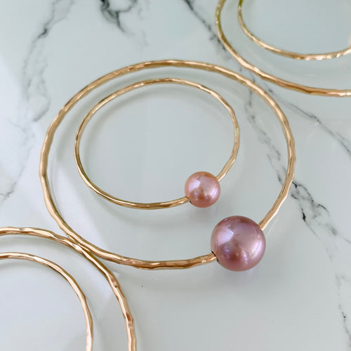 Mama & Me Pink Pearl Bangle Set