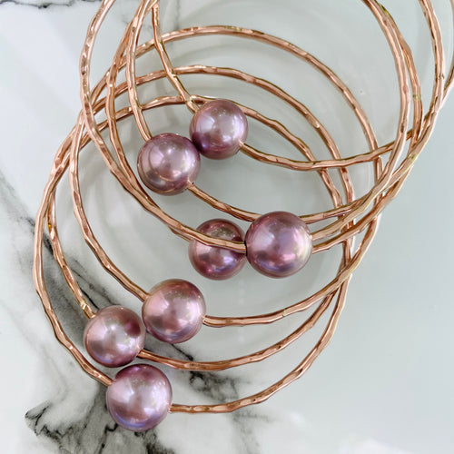 AAA Pink Edison Pearl Bangle