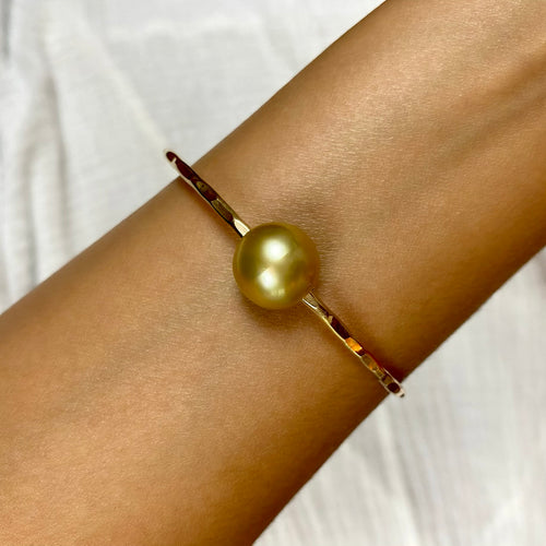 Golden South Sea Pearl Bangle