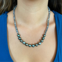 Load image into Gallery viewer, Mana Labradorite Tahitian Pearl Necklace